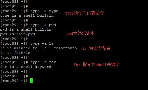 linux命令类型划分